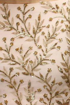Prathyusha Garimella - Pink embroidered lehenga set with mint embellished dupatta Zardozi Embroidery, Tambour Embroidery, Hand Work Embroidery, Couture Embroidery, Indian Embroidery, Embroidery Suits, Gold Embroidery, Embroidery Fashion, Hand Embroidery Designs