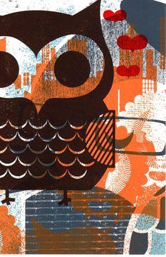 'Owl Test Print No. 16' by Hero Design Studio
