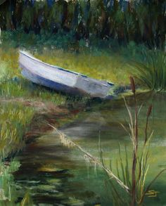 """Summer Pond"" /  Sold  / Prints available through:  http://fineartamerica.com/featured/summer-pond-susan-jenkins.html"