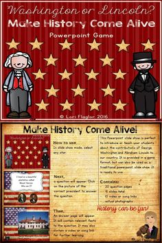 Make history come alive with this interactive powerpoint product. History can be fun!