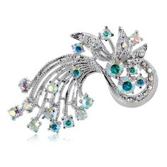 Brooch Pin by DoubleAccent Austrian Crystal Flower Brooch Pin, Multi Clear ** Find out more about the great product at the image link. (This is an affiliate link) #JewelryLover