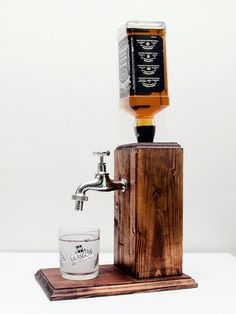 Men valentines day gift Whiskey Dispenser gift birthday Gift for husband Alcohol gift husband for him Alcohol Whiskey Jack daniels Whiskey Dispenser, Alcohol Dispenser, Beverage Dispenser, Bourbon Alcohol, Pure Tung Oil, Happy Evening, Drink Stand, Whiskey Gifts, Alcohol Gifts