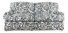 Modern Black and White Sofa on Chairish.com
