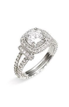 Jack Kelége 'Romance' Cushion Set Diamond Semi Mount Ring available at #Nordstrom