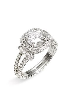 Diamond engagement ring - http://markbroumandantiquecut.blogspot.in