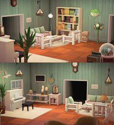 Animal Crossing Wild World, Animal Crossing Game, My Living Room, Living Room Furniture, Zen House, Animal Crossing Qr Codes Clothes, Motifs Animal, The Sims, Living Room Designs