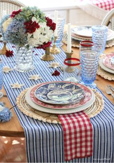 newport beach: Search results for tablescape Fourth Of July Decor, 4th Of July Celebration, 4th Of July Decorations, 4th Of July Party, July 4th, Patriotic Party, Beautiful Table Settings, July Crafts, Decoration Table