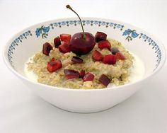 Steel-cut Oatmeal with Cherries http://ow.ly/kCd1P