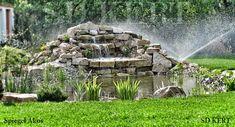 Fountain, Waterfall, Wood, Garden, Outdoor Decor, Crafts, Garten, Manualidades, Woodwind Instrument