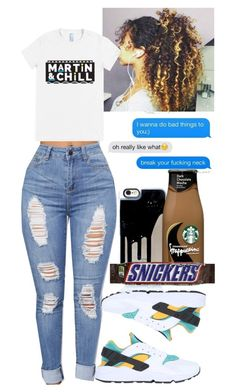 """""""MARTIN & CHILL"""" by queen-alicia ❤ liked on Polyvore featuring NIKE"""
