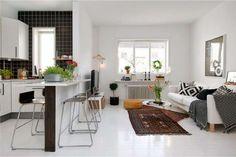 Come arredare un soggiorno piccolo con angolo cottura   Designmag