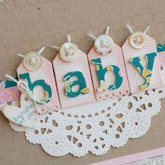 Block Alphabet dies on Tiny Tags- adorable! (from Betsy Veldman)