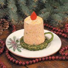 Christmas Candle Cheese Spread Recipe -My sister shared this recipe with me when I was in school and still learning to cook. It's an excellent appetizer that's remained a favorite through the years. Christmas Cheese, Christmas Appetizers, Christmas Cooking, Christmas Goodies, Christmas Treats, Holiday Treats, Holiday Recipes, Christmas Holidays, Christmas Recipes