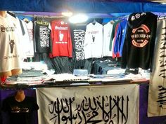 Extremist clothing sprouting fundamentalist propaganda is being sold online and from local markets across Sydney's southwest