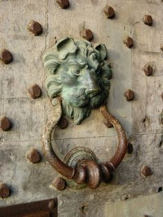 door knocker, Leeds Castle, England by reva