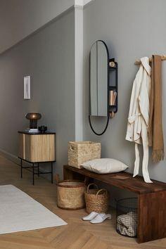 Interior Design Trends, Basket Lighting, Hm Home, Appartement Design, Japanese Interior, Rattan Basket, Gray Interior, Eclectic Decor, Storage Baskets