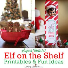 CUTE Simple Ideas and Printables for your Elf on the Shelf! These fun ideas will help you get ready for Christmas with kids. LivingLocurto.com