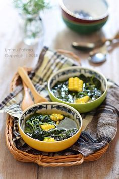 Simply Cooking and Baking...: Sayur Bening Bayam Jagung
