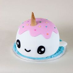 Narwhal Cake Tutorial – Sugar Geek Show Narwhal Cake Tutorial – Sugar Geek Show,Sweets and Dessert Recipes Narwhal Cake Tutorial (EASY) + Video Tutorial Cookies Et Biscuits, Cake Cookies, Cute Birthday Cakes, 10th Birthday, Birthday Cakes Girls Kids, Heart Birthday Cake, Animal Birthday Cakes, Women Birthday, Bolo Cake