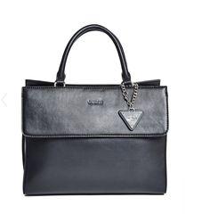 6d856be0de6d GUESS TULSA SATCHEL BLACK BAG TOTE HANDBAG BAG