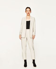 Image 1 of RELAXED ANKLE TROUSERS from Zara