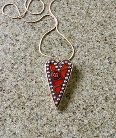 Heart Pendant by MosaicsandGemstones on Etsy https://www.etsy.com/nz/listing/556409041/heart-pendant
