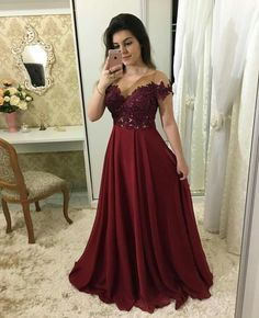 A-line Appliqued Long Prom Dress Fashion Pageant Dress School Party Dress Fashion Wedding Party Dress فساتين خمري Long Prom Gowns, A Line Prom Dresses, Wedding Party Dresses, Bridesmaid Dresses, Prom Party, Long Dresses, Dresses Dresses, Bride Dresses, Winter Formal Dresses