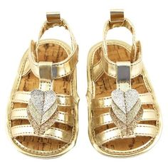 Personal Care Collections Baby Crib Shoes Rising Star Gold 6-9 M, Infant Girl's