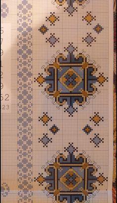 Cross Stitch Rose, Cross Stitch Borders, Counted Cross Stitch Patterns, Cross Stitch Designs, Cross Stitch Embroidery, Embroidery Patterns, Hand Embroidery, Quilt Patterns, Palestinian Embroidery