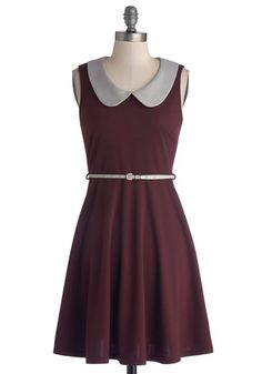 Work to Play Dress in Eggplant $54.99