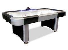 """Interactive LightingRed, white and blue trailing lights bring the table to life. When the game is """"on"""" these lights track the score remaining white as long as the score remains even. If the red team takes a lead, the LEDs flash red and stay red indicating who is in the lead. If the blue team strikes back with a goal, the LEDs flash blue and ten return to white signaling the score is even again. If the blue team takes the lead, the blue LEDs flash and remain on until the score changes. Table…"""