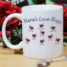 Personalized Nana Coffee Mugs | Personalized Valentines Day Mug | GiftsForYouNow.com