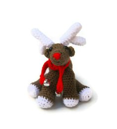 Crochet reindeer amigurumi Christmas plush Xmas ornament by jarg0n, £15.00