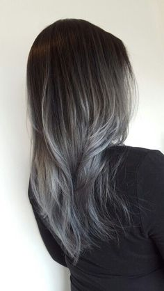 8 pretty pictures that will convince you to try the gray ombre trend grey ombre more solutioingenieria Gallery