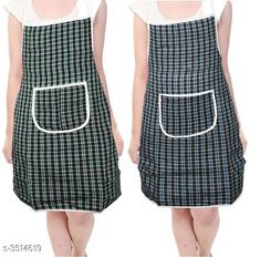 Aprons  Classy Stylish Cotton Apron ( Pack Of 2) Material:  Cotton Size: 50 in Length : Up To 27 in  Description: It Has 2 Pieces Of Aprons  Pattern: Checkered Sizes Available: Free Size *Proof of Safe Delivery! Click to know on Safety Standards of Delivery Partners- https://ltl.sh/y_nZrAV3  Catalog Rating: ★4 (7218)  Catalog Name: Free Mask Classy Stylish Cotton Apron Vol 4 CatalogID_489261 C129-SC1633 Code: 361-3514619-