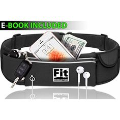 Running Belt by FitRecreation - Best Workout Belt Sweat and Water Resistant - Jogging Belt With Headphone - Reflective Belt Waist Pack - Fitness Belt - Running Waist Pack For Phone - 100% Guarantee >>> Check out the image by visiting the link. (This is an affiliate link) #RunningWaistPacks