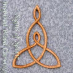 Mother and Child Knot-Carved Celtic Love Knot-Nurturing Motherhood | signsofspirit - Woodworking on ArtFire