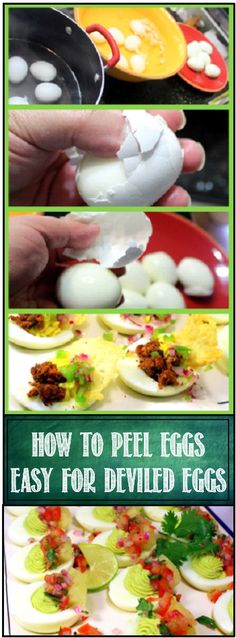 OH BOY... DEVILED EGGS!   But...   What a pain in the rump to peel the eggs. Half the time the eggs just get ruined and you would be ashamed to serve to your friends and neighbors... BUT there is an easy way to get perfect eggs all the time... REALLY YOU CAN DO THIS!!!