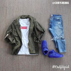 """13.4k Likes, 65 Comments - Outfitgrid™ (@outfitgrid) on Instagram: """"Today's top #outfitgrid is by @coryjking. ▫️#Supreme #Boxlogo ▫️#ReadyMade #Jacket ▫️#FearOfGod…"""""""