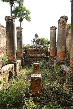 One of the many ruins at Ava (Innwa), the ancient capital of Myanmar (Burma).  Myanmar is making some historic and hopefully irreversible changes towards democracy and liberty.  We welcome Myanmar to the rest of the free world with open arms!  Hugs!