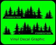 Subaru Forester Decal custom vinyl Door graphic Silhouette