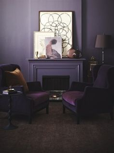 Bold & Beautiful Living Room in shades of plum