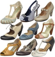 I love vintage shoes, but between the heavy wear and narrow fit, I have to indulge my wants with fabulous reproductions. Mary Janes, t-strap...