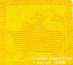 Knitting Cloth Pattern  LUCKY DUCK  Instant by ezcareknits on Etsy, $3.00
