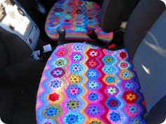 carseat covers in crochet - never thought of that. It's a wonderful idea, because I never find seat covers I really like