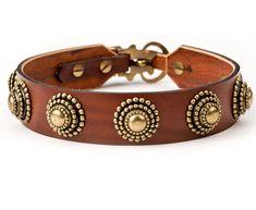 """oscar"" leather dog collar"