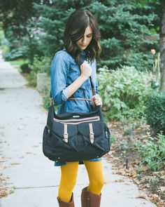 Rambler Satchel Diaper Bag - love the look + function of this super-hip bag for mom!