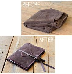 DIY book cover : DIY Suede Bookcovers and Handmade Journals