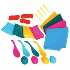 Sports Day Outdoor Games Set; I like the egg on the spoon idea