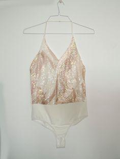 a89c70bdc2 Sequins bridal bodysuit - wedding gown bodysuit